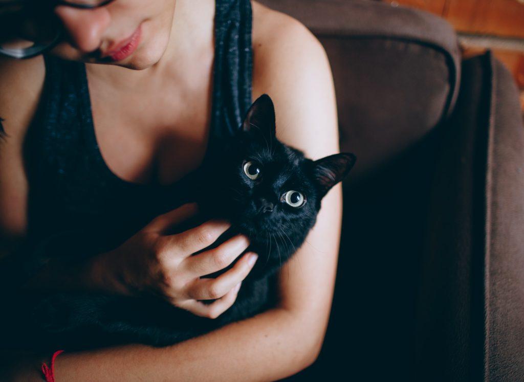 Holding a Black Cat